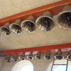 Hanging bronze church bells