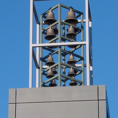 Small carillon over an office building, Belgium