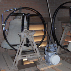 New swinging wheels for church bells, Phoenix AZ