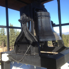 New bell frame and pillow bearings for swinging church bell, Truckee CA