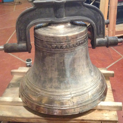 Restoring a bronze church bell Before Truckee CA