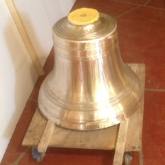 Restoration of a bronze church bell after, Truckee CA