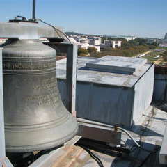 Restoration of a bell on Smithsonian, Washington DC