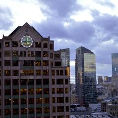 Office building tower clock, Boston MA
