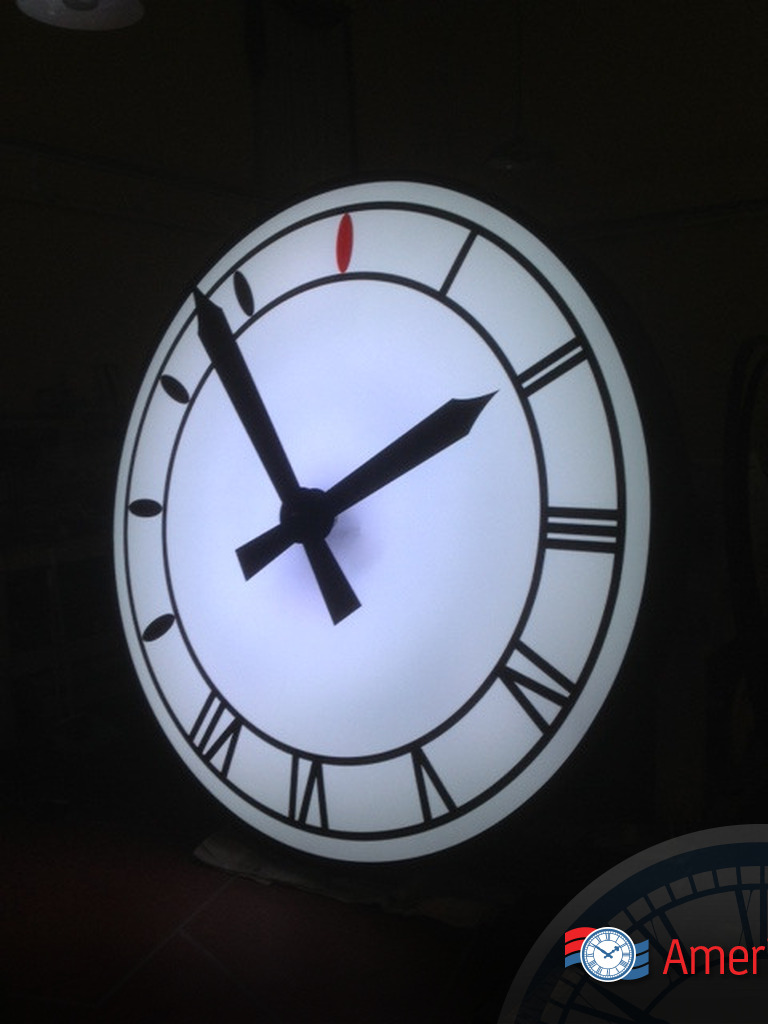 Clock parts americlock clock led lighting options white mozeypictures Gallery