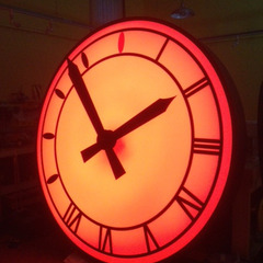 Clock LED lighting options red