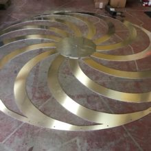 Dry fit center fan blades measuring 10 feet in diameter