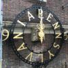 Restored old clock installation at the University of Pennsylvania's Franklin Field
