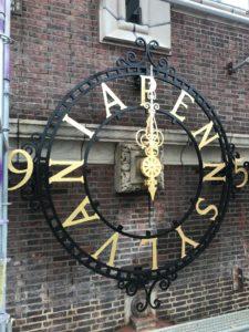 Restored old clock installation at the University of Pennsylvania's Franklin Field