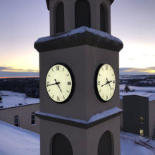 Burman University clock tower
